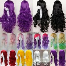 Fashion Women's Wigs Full Long Bangs Curly Wavy Costume Cosplay Party Wig ggs67