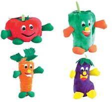Giggling Veggies Dog Toys Soft Vegetable Themed Plush Funny Giggle Shake Toy