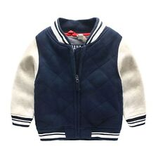 Kids Baby Toddler Boys warmth zipper Outerwear Jacket Winter Casual Coat Clothes