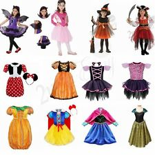 Kids Girls Costume Cosplay Halloween Fancy Dress Up Party Outfits Clothes