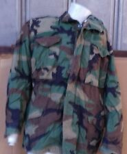 USED MILITARY SURPLUS M-65 FIELD JACKET  (ACTUAL ISSUE) WOODLAND CAMO