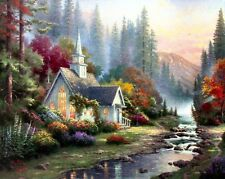 Thomas Kinkade Forest Chapel 8x10 Framed Classic Edition Framed Canvas