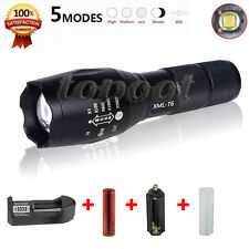 3000 Lumen Zoomable Cree XML T6 LED 18650 Flashlight Focus Torch Zoom Lamp Light