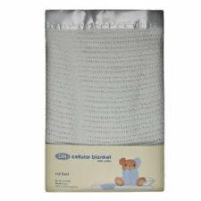 DK Glovesheets 100% Cotton Cellular Cotbed Blanket (White)