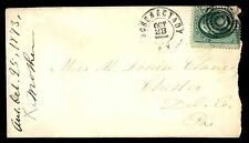MAYFAIR99 SCHENECTADY NY OCT 23 1873 TO CHESTER PENN DEL COUNTY ON COVER