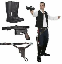 Star Wars Han Solo Costume Bundle Belt, Boots New Hope Film Set Quality from UK