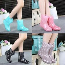 Women's Rain Boots Rubber Solid Mid Height Wellies Mid Calf Snow  Boots Shoes