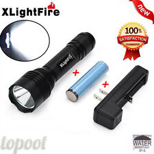5000LM CREE XM-L T6 LED Tactical Flashlight Torch Light+Battery+18650 US Charger