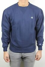 Champion Mens Super Crew Navy Blue White C Pullover Crew Neck Sweatshirt NWT