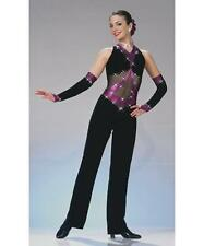 Jazz Dance Costume Tap Artstone Women girls Purple Jumpsuit Skate Power