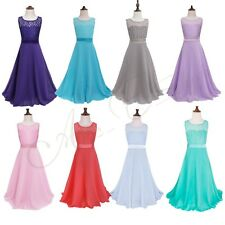 Kids Pageant Bridesmaid Wedding Prom Party Ball Gown Formal Flower Girl Dress