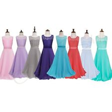 New Flower Girl Dress kids Pageant Bridesmaid Prom Party Dance Ball Gown Formal