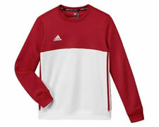 Adidas T16 Team Crew Sweater Jumper Red White AJ5267 - Kid's