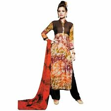 Bollywood Tie Dye Salwar Kameez with Palazzo Pants- Embroidered-Cocktail-1508