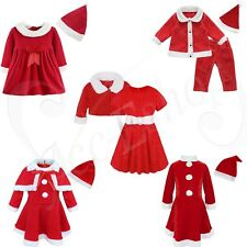 Christmas Santa Claus Kid Clothes Toddlers Suit Baby Boys Girls Cute Outfits Set