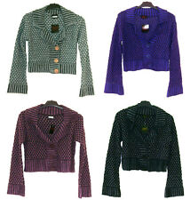 Ladies Gorgeous New Knitted Crop Cardigan, Sizes S/M, M/L, 4 Colours, BNWT