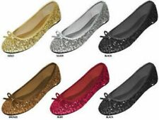 New Womens Sequins Ballerina Ballet Flats Shoes