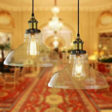 2X/4X Vintage Clear Glass Ceiling Lamp Shade Pendant Light Chandeliers Lighting