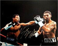 Sugar Shane Mosley Signed Autograph 16x20 Photo Punching Jab To The Face Low Sig