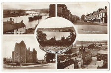 KIRKCUDBRIGHT Multi-view RP Postcard by Valentine, Postally Used 1936