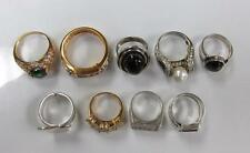 Dealer's Lot of 9 Sterling Silver Miscellaneous Rings ~ 71.9 grams ~ 6-B8669
