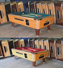 VALLEY COUGAR ZD-7 COIN-OP 7' BAR SIZE POOL TABLE  TOTALLY REFURBISHED IN RED