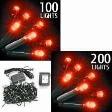 Frosted String Christmas Xmas Tree LED Lights Festive Window Decoration Flash