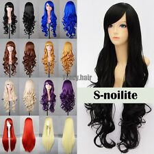 Womens Lolita Harajuku Wig Long Curly Wavy Anime Cosplay Party Wig Fancy Costume