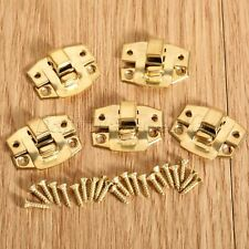 Gold Decorative Box Latch Hasp Jewelry Suitcase Wood Chest Cabinet Lock Clasp