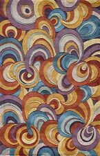 Momeni New Wave 131 Multi Area Rug Modern Contemporary Wool All Sizes