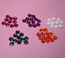 Lots colors 5000pcs Multiple facets Resin 4mm Flat Back Rhinestones SS16