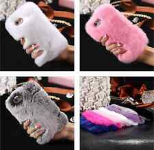 Luxury Winter Warm Soft Furry Rabbit Fur Fashion Case Cover For iPhone 6 7 Plus