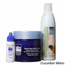 Dead Sea Spa Care 3-piece Dead Sea 20 oz. Salt Scrub, 8 oz. Cucumber/ Melon Mass
