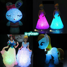 Colorful Led Changing Night Light Table Lamp Adorn Party Decor Kids Toys Gift UK