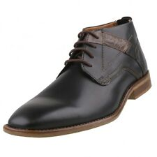 New BUGATTI Mens Low Shoes Lace up Ankle Boots Leather Shoes Business