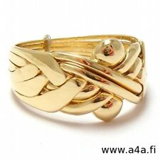 6 Band 9 kt Solid Gold Turkish Puzzle Ring - Sizes 4 - 11  Including Half Sizes
