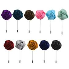 Lapel Rose Flower Daisy Handmade Boutonniere Stick Brooch Pin Men's Accessories
