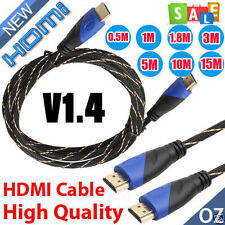 0.5M-15M Meters New Braided HDMI Cable V1.4 AV HD 3D for PS3 Xbox HDTV 1080P DF