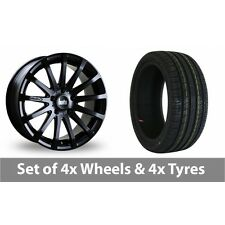 "4 x 20"" Bola XTR Matt Black Alloy Wheel Rims and Tyres -  235/30/20"
