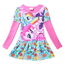 My Little Pony Pink Holiday Girls Party Dress Kids Clothes Purple Sz 3 4 5 6 7 8