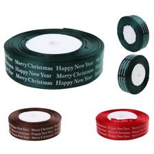 25yards 26mm Width Satin Ribbon Roll Bow Christmas Party DIY Craft Decoration