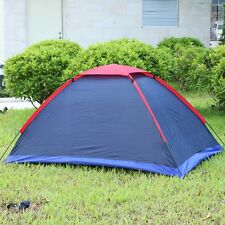 Two Person Outdoor Camping Tent Kit Fiberglass Pole Water Resistance with Carry