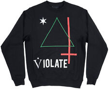 Black Scale Violate Triangle Crew Men's Pullover Black S-3XL BLVCK SCVLE Fleece