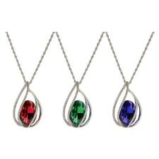 Unique Angel Tear Waterdrop Crystal Pendant Long Chain Sweater Necklace Gift