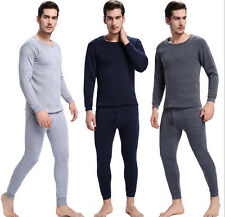 Mens Thermal Long Johns Long Sleeve T-Shirts Winter Warm Thermal Underwear M-4XL
