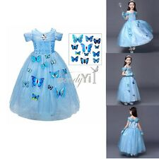 Girls Cinderella Classic Princess Outfit Cosplay Costume Party Fancy Dress Skirt