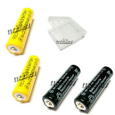 1 Case Box + 4 AA 900mAh Ni-CD Rechargeable Battery Yellow Black
