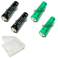 1 Case Box + 4 AA 900mAh Ni-CD Rechargeable Battery Black Green