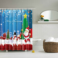 1pcs Retro Shower Curtain Bath Liner Bathroom Curtain Fabric Drapes with 12 Hook