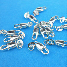 Silver Plated Lobster Clasps Fastener Key Ring Bracelet Necklace Findings